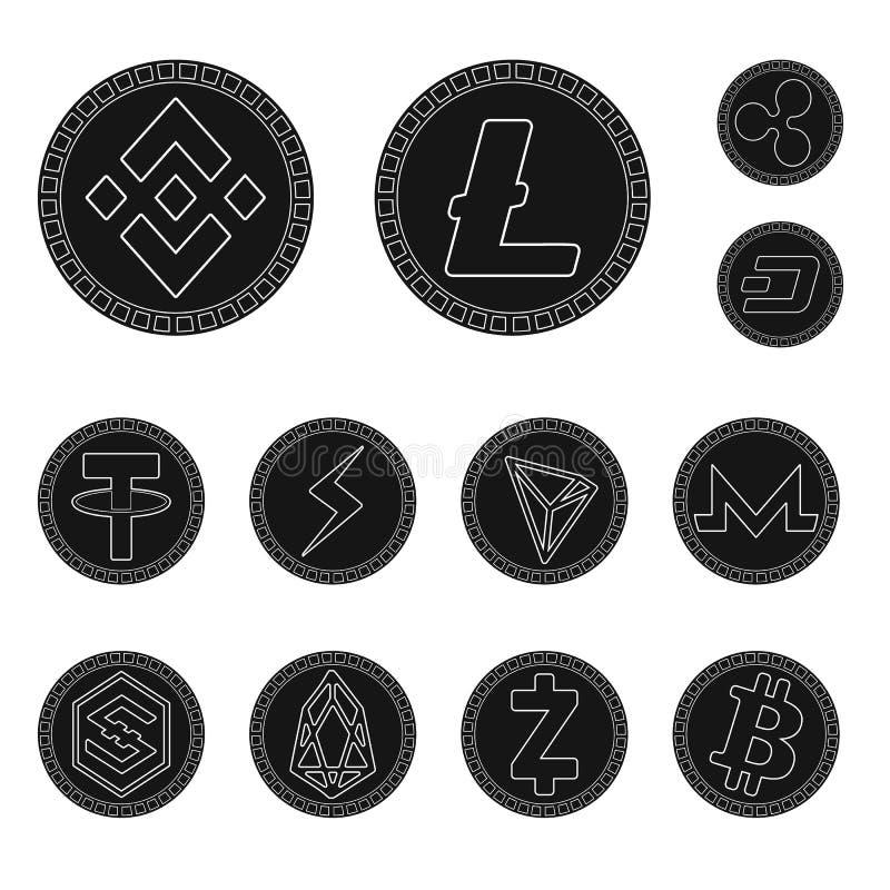 Illustrazione di vettore del simbolo di economia e di commercio elettronico Metta dell'icona di vettore del bitcoin e di commerci royalty illustrazione gratis