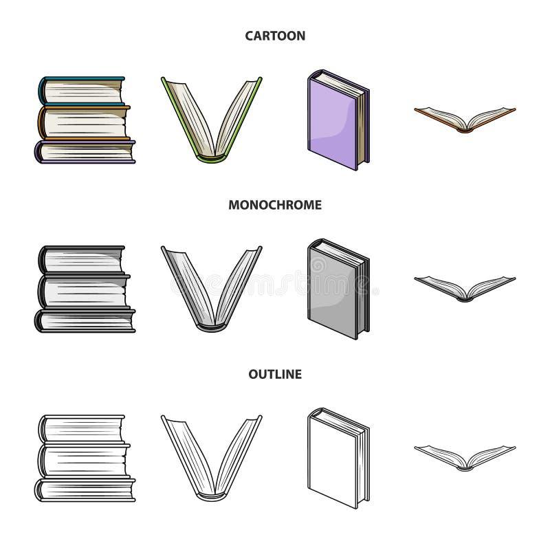 Illustrazione di vettore del simbolo del manuale e delle biblioteche Raccolta dell'illustrazione di riserva di vettore della scuo illustrazione vettoriale
