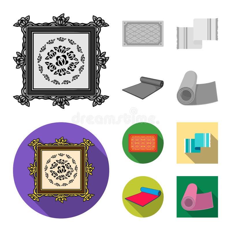 Illustrazione di vettore del simbolo del persiano e del tappeto Raccolta dell'illustrazione di vettore delle azione del confine e royalty illustrazione gratis