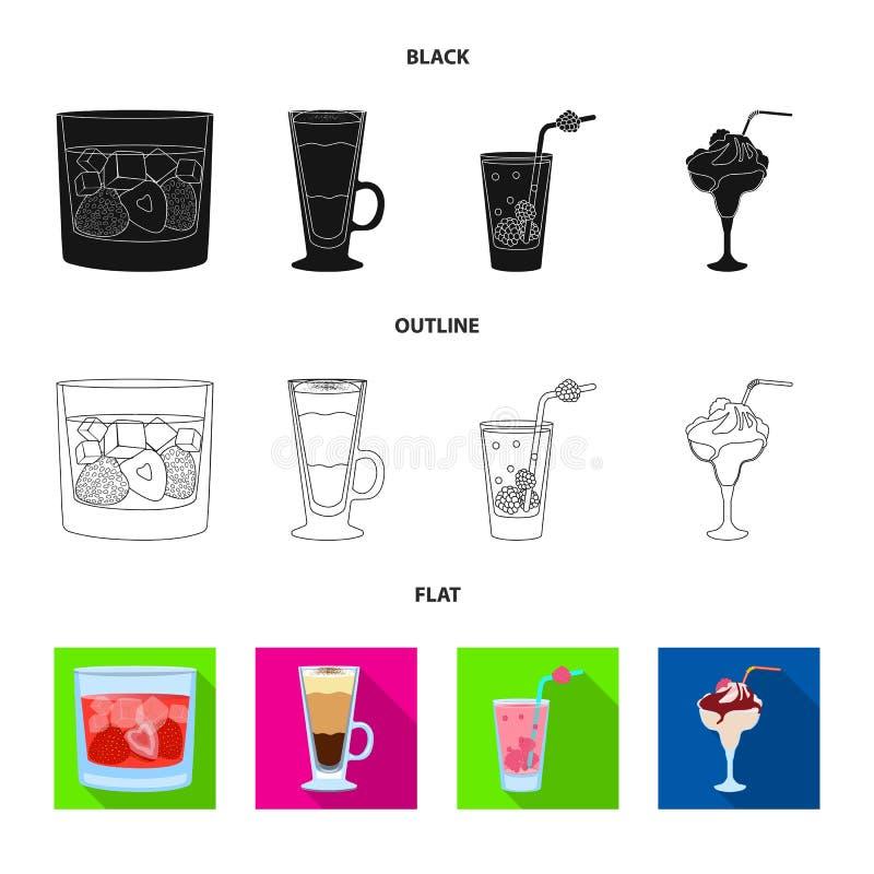 Illustrazione di vettore del simbolo del ristorante e del liquore Metta dell'icona di vettore dell'ingrediente e del liquore per  royalty illustrazione gratis