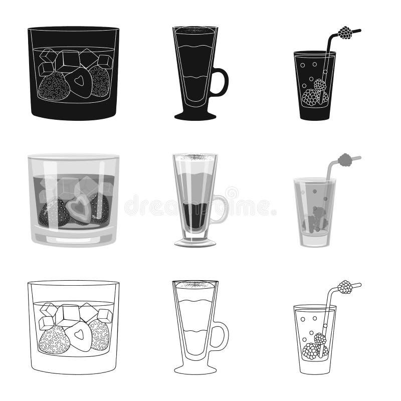 Illustrazione di vettore del simbolo del ristorante e del liquore Metta del simbolo di riserva dell'ingrediente e del liquore per royalty illustrazione gratis