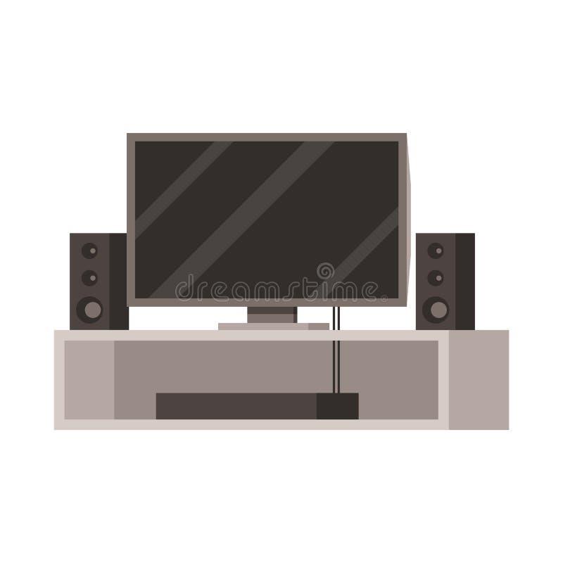 Illustrazione di vettore del teatro e dell'icona domestica Raccolta del teatro e di audio simbolo di riserva per il web illustrazione vettoriale
