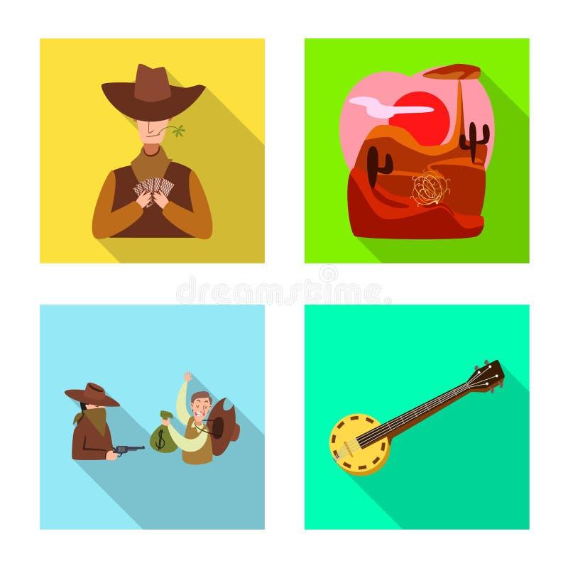 Illustrazione di vettore del Texas e del simbolo di storia Raccolta del Texas ed icona di vettore della cultura per le azione royalty illustrazione gratis