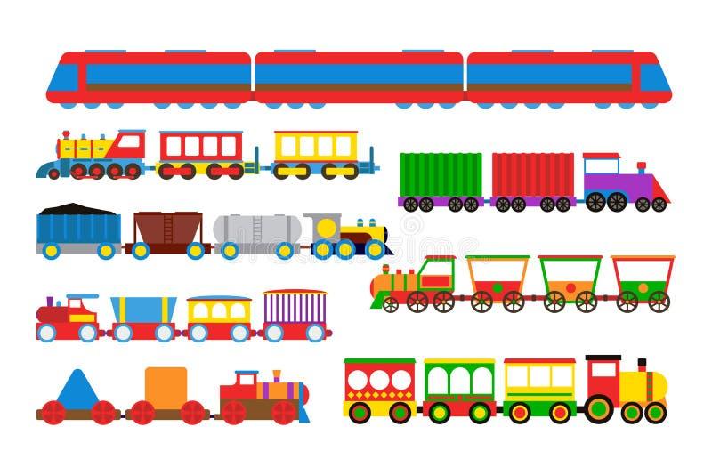 Illustrazione di vettore del treno del giocattolo illustrazione vettoriale
