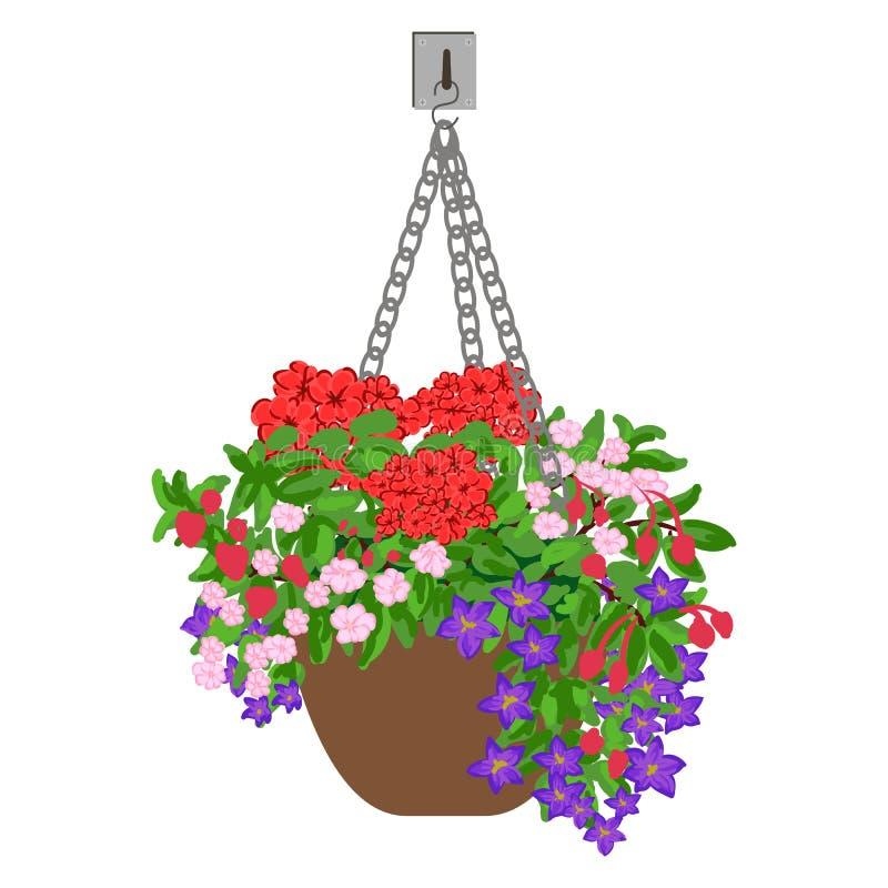 Illustrazione di vettore del vaso d'attaccatura illustrazione di stock