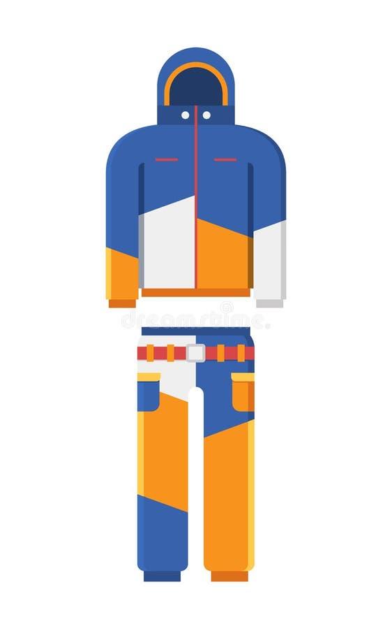 Illustrazione di vettore del vestito degli sport invernali illustrazione vettoriale