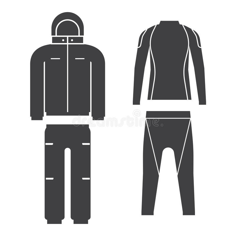 Illustrazione di vettore del vestito degli sport invernali royalty illustrazione gratis