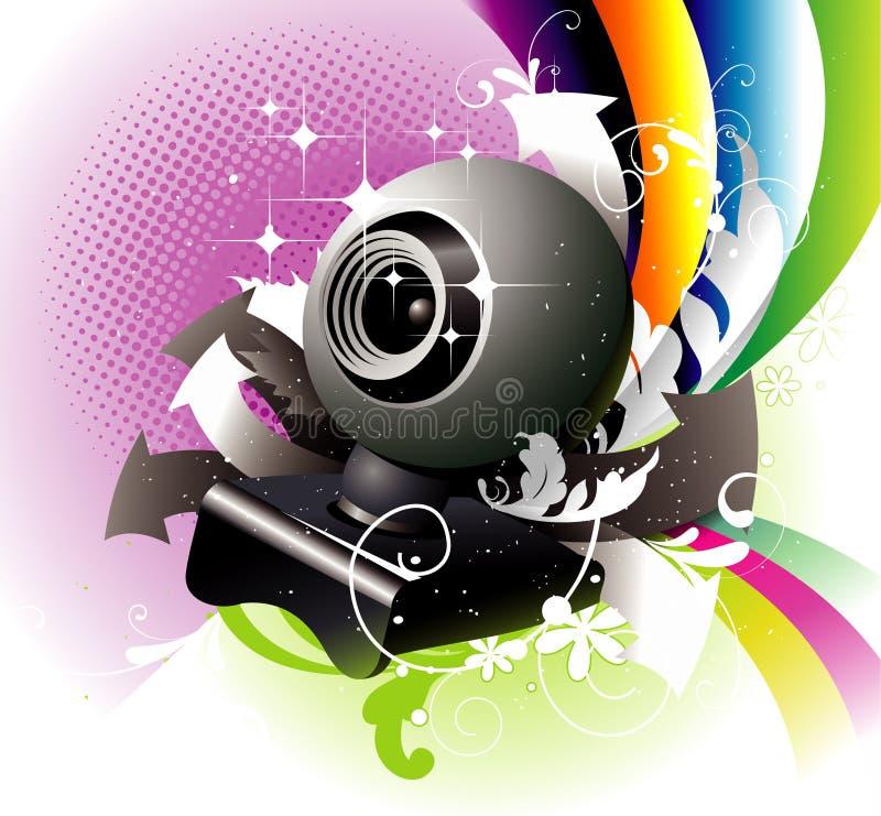 Illustrazione di vettore del webcam illustrazione vettoriale