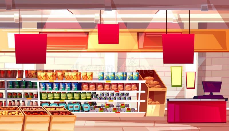 Illustrazione di vettore dell'alimento della drogheria del supermercato illustrazione vettoriale