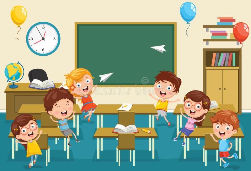 Illustrazione di vettore dell'aula dei bambini royalty illustrazione gratis
