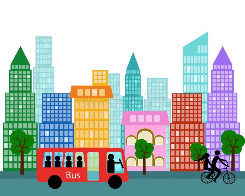 Illustrazione di vettore dell'elemento di progettazione della città di vettore illustrazione di stock