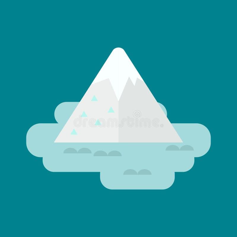 Illustrazione di vettore dell'iceberg illustrazione vettoriale
