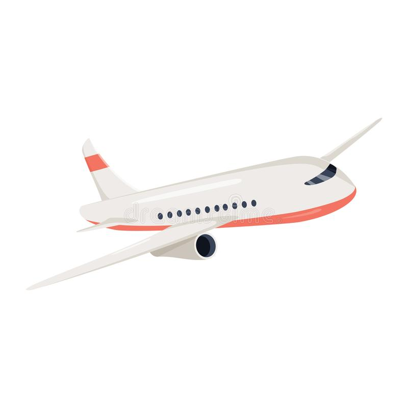 Illustrazione di vettore dell'icona dell'aeroplano Simbolo di viaggio di volo dell'aeroplano La vista dell'aereo piano di un aere illustrazione vettoriale