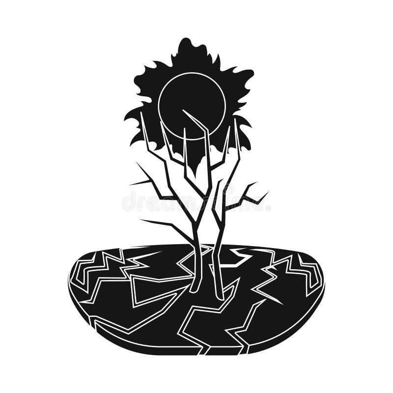 Illustrazione di vettore dell'icona di arresto e di calamità Metta del simbolo di riserva di disastro e di calamità per il web royalty illustrazione gratis