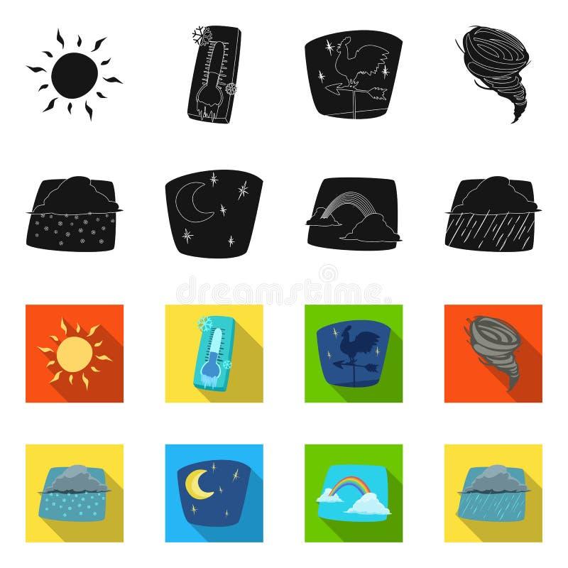 Illustrazione di vettore dell'icona di clima e del tempo Insieme del simbolo di riserva della nuvola e del tempo per il web illustrazione vettoriale