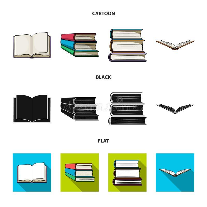 Illustrazione di vettore dell'icona del manuale e delle biblioteche Raccolta dell'icona di vettore della scuola e delle bibliotec illustrazione di stock