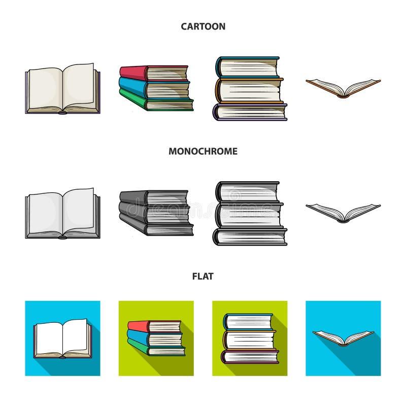 Illustrazione di vettore dell'icona del manuale e delle biblioteche Raccolta dell'icona di vettore della scuola e delle bibliotec royalty illustrazione gratis