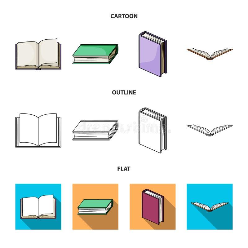 Illustrazione di vettore dell'icona del manuale e delle biblioteche Raccolta dell'illustrazione di riserva di vettore della scuol illustrazione di stock