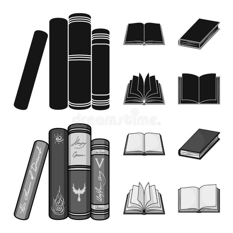Illustrazione di vettore dell'icona del manuale e delle biblioteche Raccolta del simbolo di riserva della scuola e delle bibliote illustrazione vettoriale