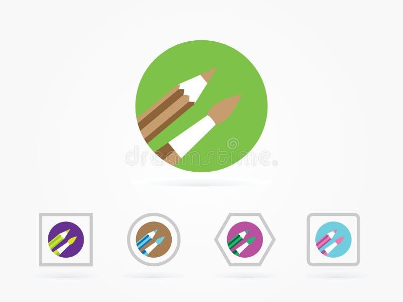 Illustrazione di vettore dell'icona del pennello royalty illustrazione gratis