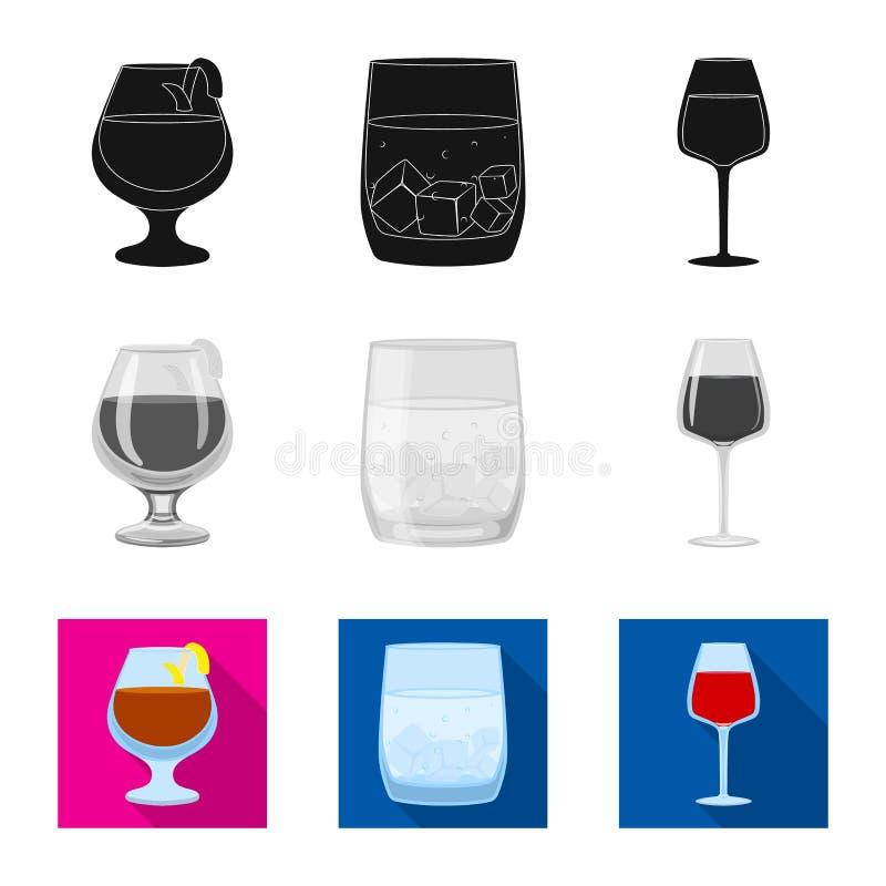 Illustrazione di vettore dell'icona del ristorante e del liquore Metta dell'illustrazione di vettore delle azione dell'ingredient illustrazione vettoriale
