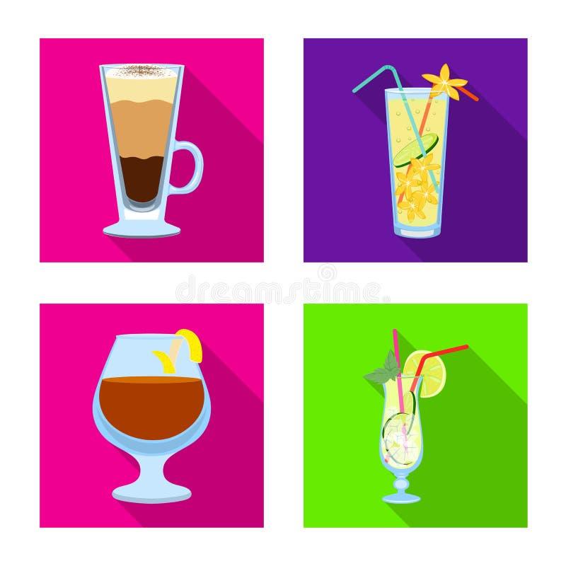Illustrazione di vettore dell'icona del ristorante e del liquore Metta dell'icona di vettore dell'ingrediente e del liquore per l illustrazione vettoriale