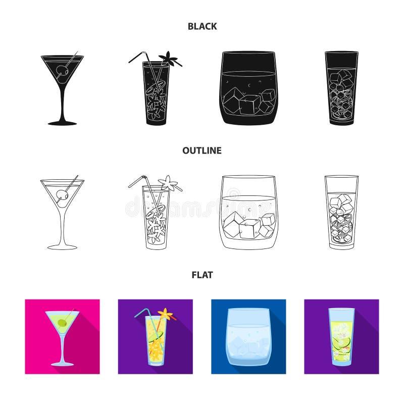 Illustrazione di vettore dell'icona del ristorante e del liquore Metta del simbolo di riserva dell'ingrediente e del liquore per  illustrazione di stock
