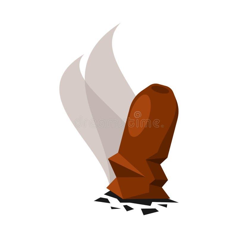 Illustrazione di vettore dell'icona della cenere e del sigaro Metta del simbolo di riserva dell'ustione e del sigaro per il web royalty illustrazione gratis