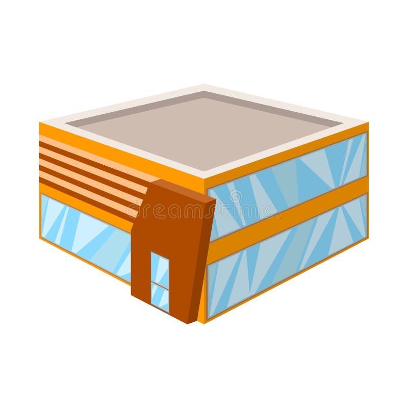 Illustrazione di vettore dell'icona della libreria e del negozio Metta del negozio e del simbolo di riserva di dipartimento per i royalty illustrazione gratis