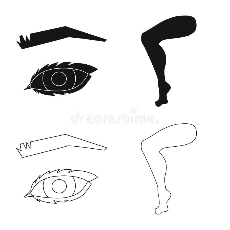 Illustrazione di vettore dell'icona della parte e del corpo Metta del simbolo di riserva dell'anatomia e del corpo per il web illustrazione vettoriale