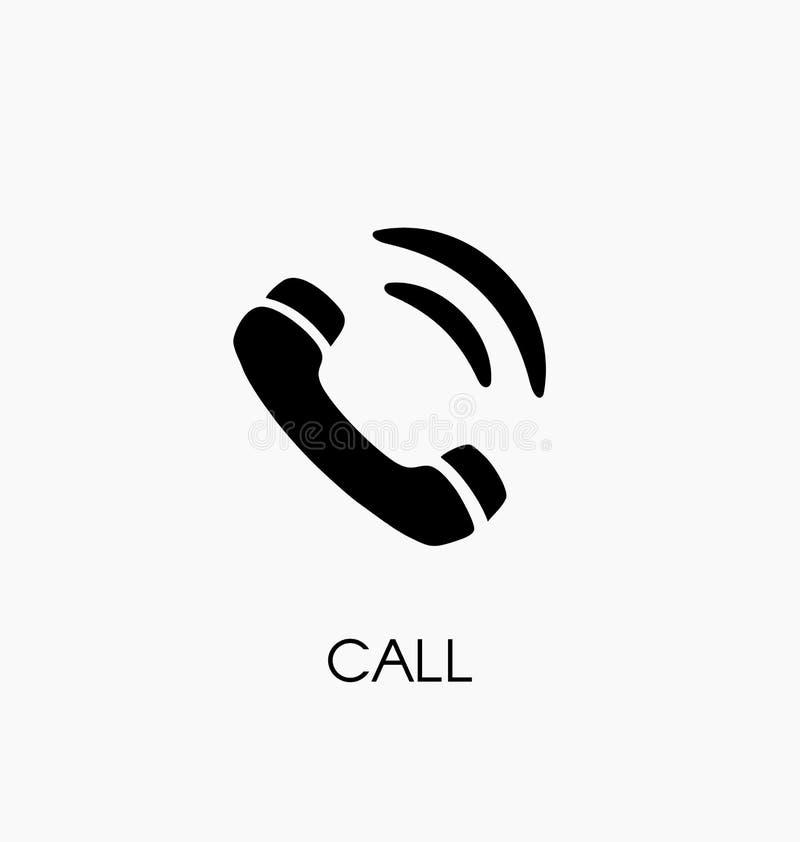 Illustrazione di vettore dell'icona di telefonata Simbolo del telefono fotografia stock libera da diritti