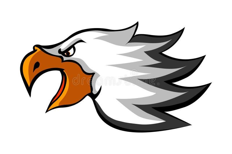 Illustrazione di vettore dell'icona di logo della testa di Eagle royalty illustrazione gratis