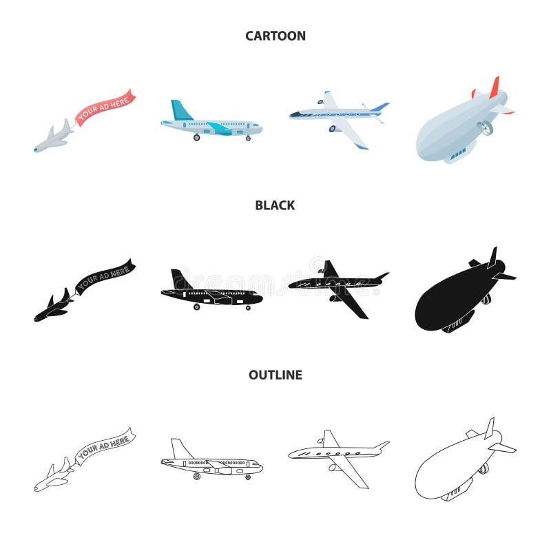 Illustrazione di vettore dell'icona dell'oggetto e di trasporto Raccolta di trasporto ed icona scivolante di vettore per le azion illustrazione vettoriale