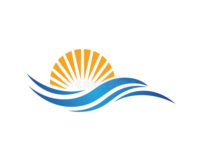 Illustrazione di vettore dell'icona dell'onda di acqua royalty illustrazione gratis