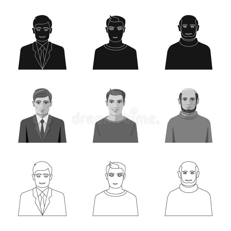 Illustrazione di vettore dell'icona di professione e dell'acconciatura Raccolta dell'illustrazione di vettore delle azione del ca royalty illustrazione gratis