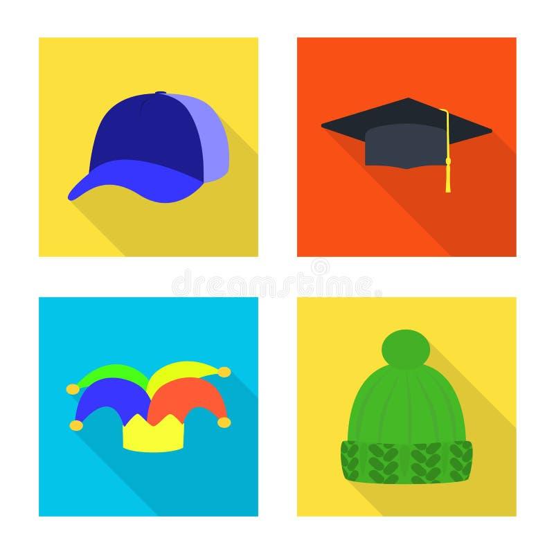 Illustrazione di vettore dell'icona di professione e di modo Metta di modo e dell'illustrazione di vettore delle azione del cappu royalty illustrazione gratis