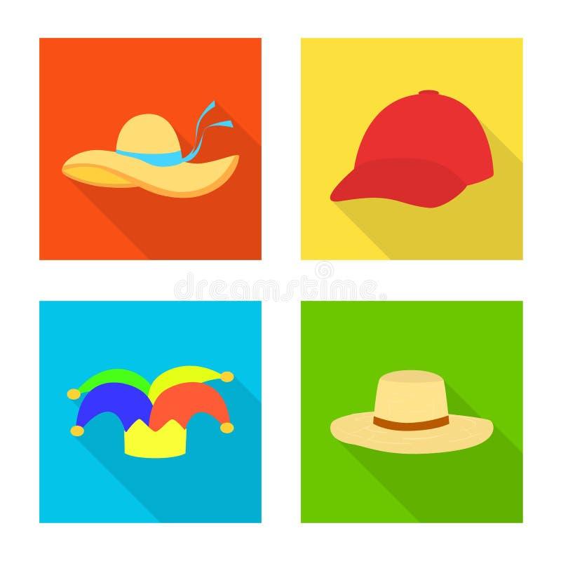 Illustrazione di vettore dell'icona di professione e di modo Raccolta di modo ed icona di vettore del cappuccio per le azione illustrazione di stock