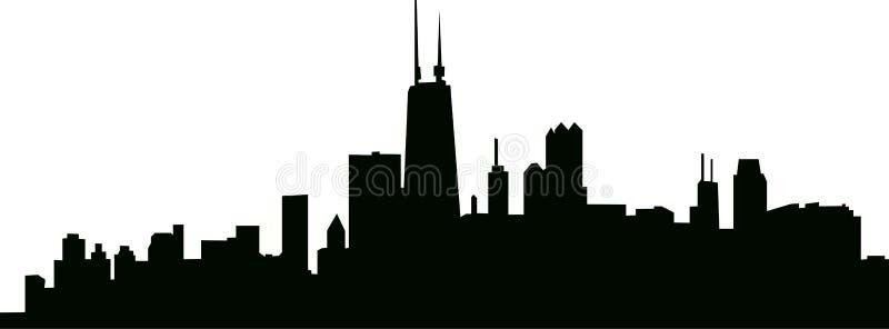 Illustrazione di vettore dell'orizzonte della città fotografia stock
