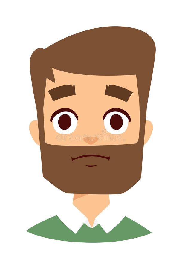 Illustrazione di vettore dell'uomo di tristezza royalty illustrazione gratis