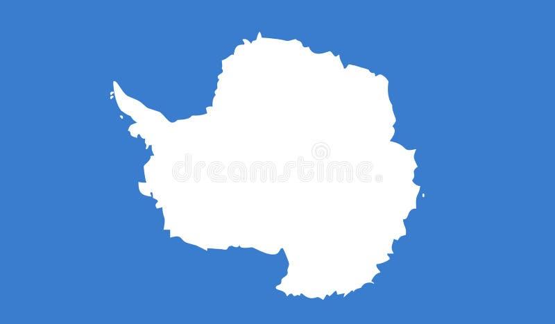 Illustrazione di vettore della bandiera dell'Antartide illustrazione di stock
