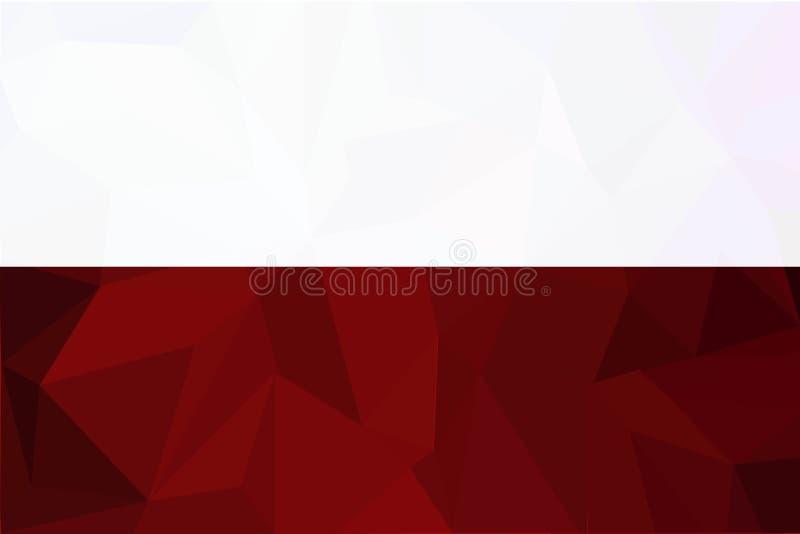 Illustrazione di vettore della bandiera della Polonia Bandierina della Polonia Bandiera nazionale della Polonia illustrazione vettoriale