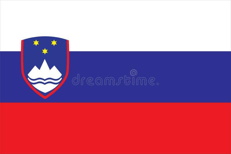 Illustrazione di vettore della bandiera della Slovenia Bandiera della Slovenia royalty illustrazione gratis