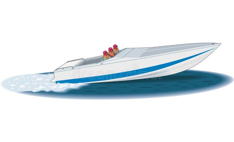Illustrazione di vettore della barca di corsa illustrazione vettoriale
