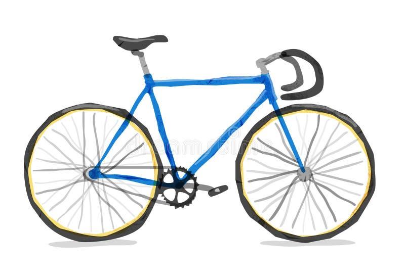 Illustrazione di vettore della bicicletta della strada illustrazione di stock