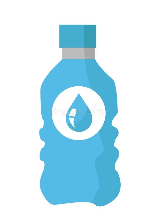 Illustrazione di vettore della bottiglia di acqua illustrazione vettoriale