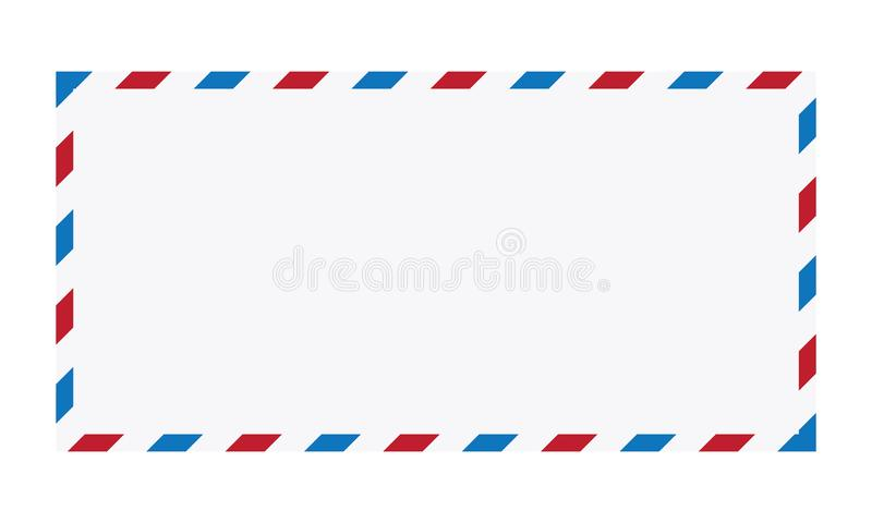Illustrazione di vettore della busta della posta aerea illustrazione di stock
