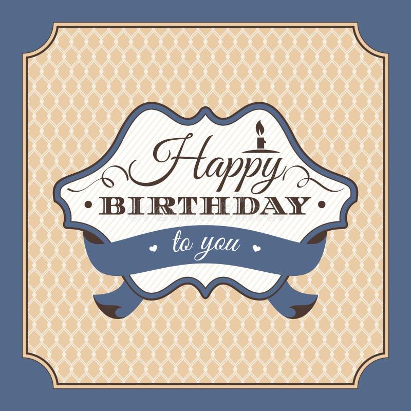 Illustrazione di vettore della cartolina d'auguri di compleanno illustrazione vettoriale