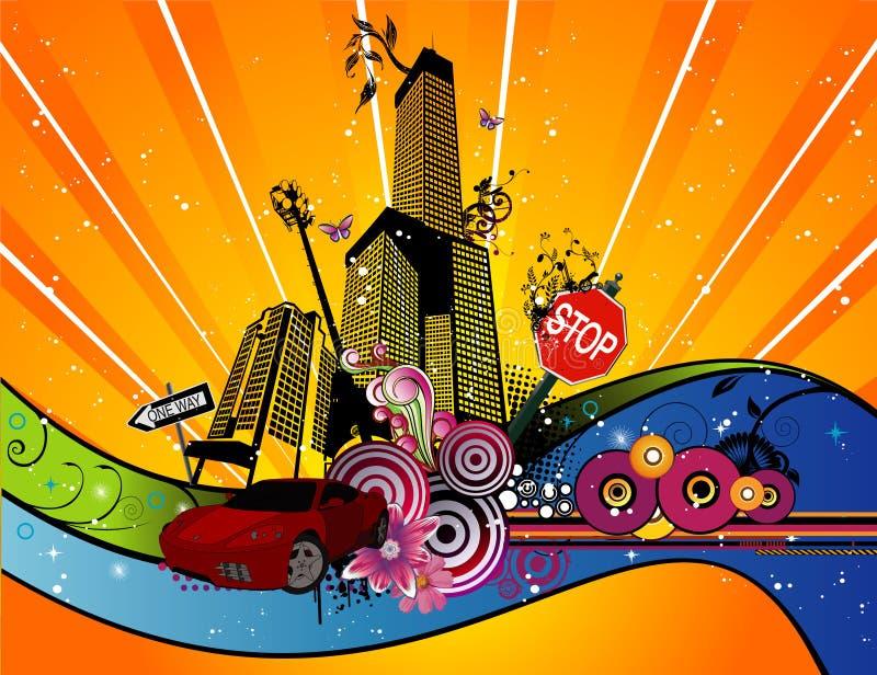 Download Illustrazione Di Vettore Della Città Illustrazione Vettoriale - Illustrazione di aeroplano, strutture: 7317955