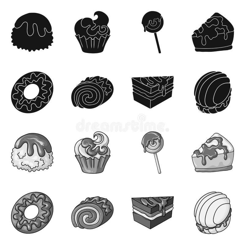 Illustrazione di vettore della confetteria e del segno culinario Metta dell'illustrazione di vettore delle azione del prodotto e  royalty illustrazione gratis