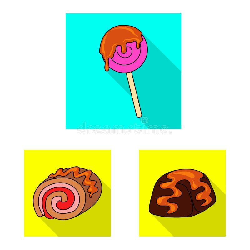 Illustrazione di vettore della confetteria e del segno culinario Metta della confetteria e dell'illustrazione di riserva variopin illustrazione di stock